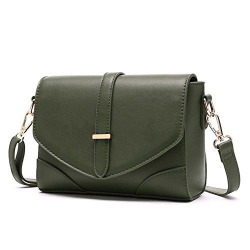 Piccolo pacchetto, versione coreana dello zaino obliquo selvatico, borse, borsa a tracolla semplice, borsa a quadretti dell'atmosfera ( Colore : Nero ) Verde