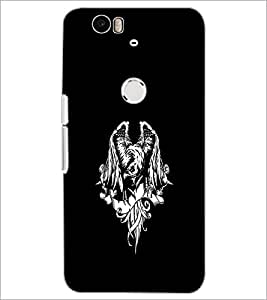 PrintDhaba Eagle D-2425 Back Case Cover for HUAWEI NEXUS 6P (Multi-Coloured)