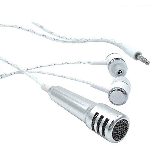 Forepin® Universale Auricolare In Ear Stereo con Mini Microfono - Argento