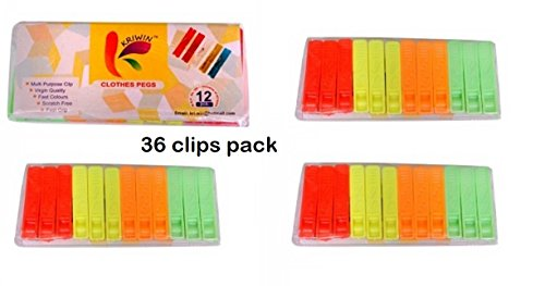 KRIWIN Sturdy Cloth Clips Multi Color Clothes Pegs for Drying | Clothes  Pegs, Home and Kitchen, Home Storage and Organization, Laundry Organization  |