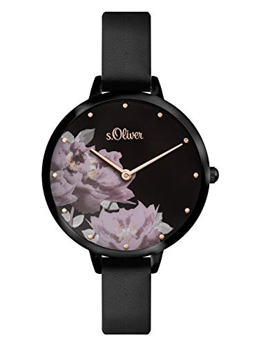 s.Oliver Damen Analog Quarz Armbanduhr mit PU Armband SO-3538-LQ