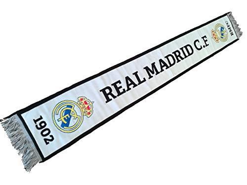 LCQI Bufanda Real Madrid 2018 2019 Licencia Oficial (Blanca R.Madrid)