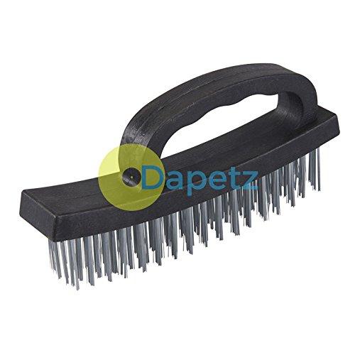 dapetz® D-Griff Hand Drahtbürste entfernen Rost Metall Reinigung Robuster Griff (Von Und Entfernen Hand)