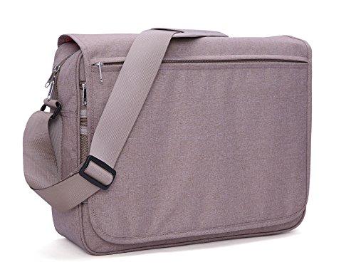 MIER Laptop Messenger Bag Uomo Borse a tracolla con l'organizzatore per il lavoro, la scuola, Viaggi, adatti computer portatile fino a 15,6 pollici (Cachi) Cachi