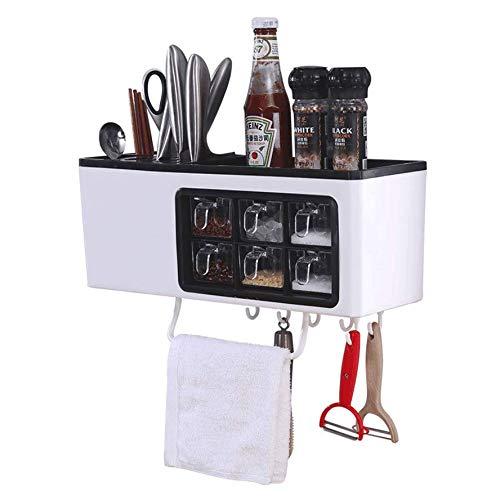 Kuty Estante Especias Organizador Cocina Organizador de Especias Estante para Especias Idóneo como Organizador de Condimentos o Artículos de Pastelería