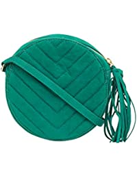 Chumbak Chevron Quilted Oval Sling Bag - Green
