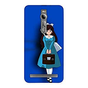 Girl In Blue Back Case Cover for Asus Zenfone 2