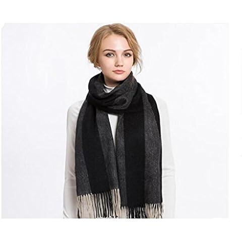 WE&ZHE Scopo di lana sciarpa scialle doppio femminile femminile Stripe nappe Thickend grandi dimensioni tenere caldi di inverno della gioventù studente , 4#