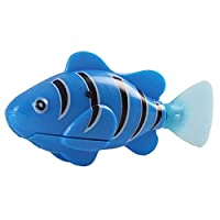 HIPENGYANBAIHU Cat Toy Electric Swimming Simulation Fish Pink Red Green Blue Swimming Robot Activated In Water Magical Electronic blue,blue