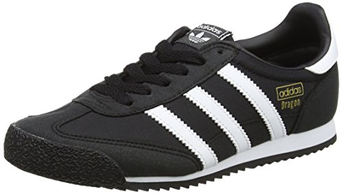 adidas Unisex-Kinder Dragon OG Sneaker, Schwarz (Core Black/Footwear White/Core Black), 38 2/3 EU (Dragon Adidas Originals)