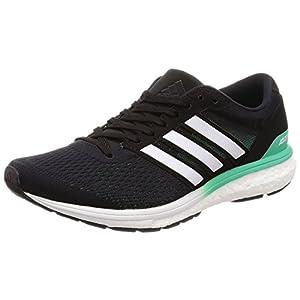 adidas Adizero Boston 6 W, Zapatillas de Running para Mujer, Negro Core Black/FTWR White/hi-Res Green S18, 36 2/3 EU