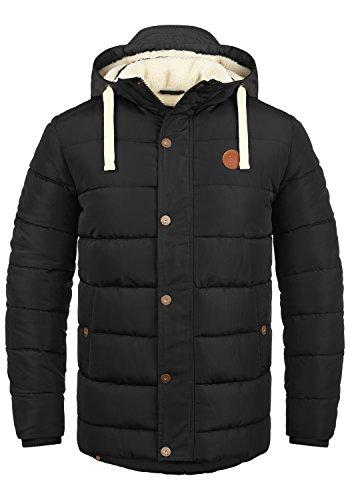 BLEND Frederic Herren Winterjacke Stepp-Jacke mit Kapuze aus hochwertiger Materialqualität , Größe:L, Farbe:Black (70155)