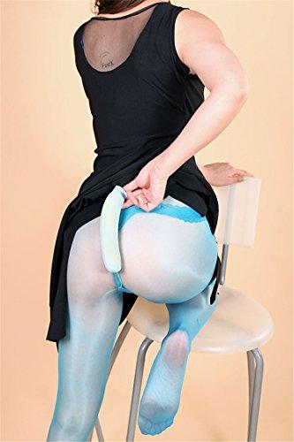 XiaoGao_ Nahtlose Männer Ultra dünne Strumpfhose,Weiß -