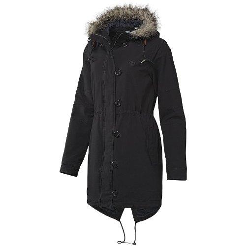 W64682 Adidas Fur Woven Parka Black 36