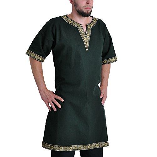 Tunika mit kurzem Arm, grün, Größe XXL Mittelalter