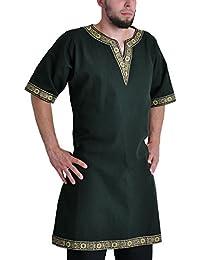 Tunika mit kurzem Arm, grün, Größen M, L, XL, XXL Mittelalter
