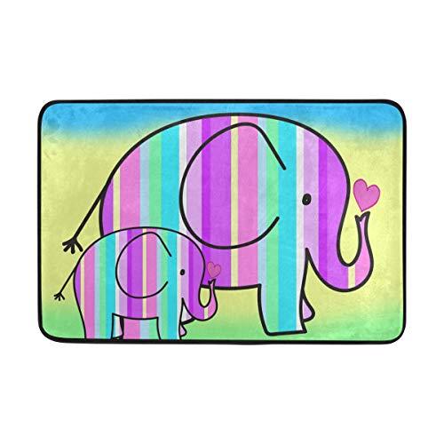 FFY Go Alfombrilla de baño, diseño de Elefantes, Antideslizante, antimoho, fácil de...