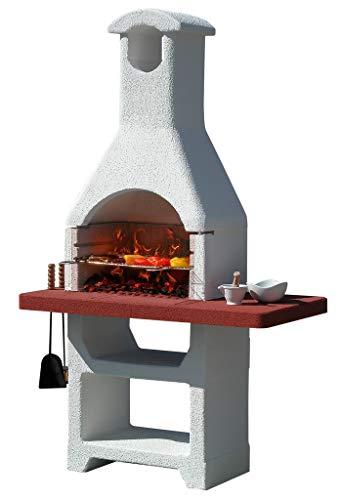 Barbecue in muratura mod.martinica lx in cemento,con cappa cm 125x65x210h nextradeitalia confezione da 1pz