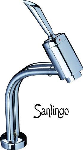 SANLINGO BAñO LAVABO MODERNO GRIFO MONOMANDO CROMO