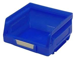 Bott 13031017 Paniers de rangement en plastique avec étiquette Bleu No 1 x 24