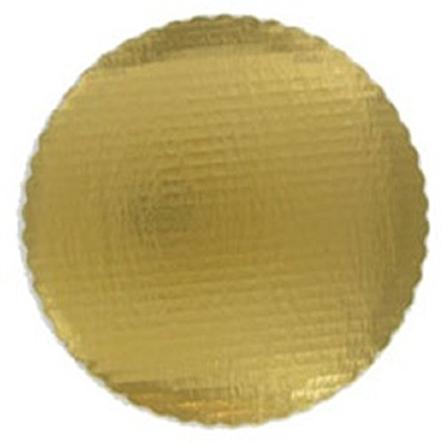 Oasis Supply OA gdscb 10r-6gewelltem Kuchen Kreis, 25,4cm, Gold, 6er Pack (Kuchen Kreise Gold)