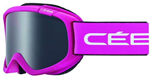 Cébé Jerry 2 Masque de Ski Fille, Rose Blanc Mat, XS