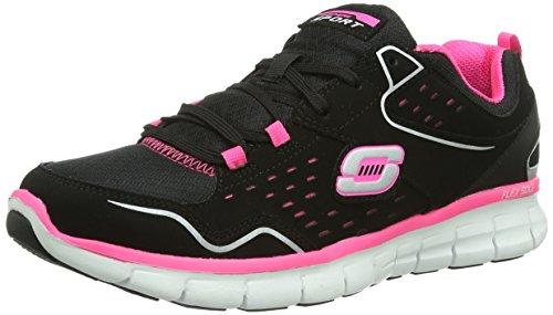 Skechers Synergy A Lister Damen Sneakers Schwarz (bkhp)