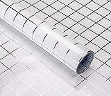 XPartner Adesivi per cucina a prova di olio Adesivi per piastrelle impermeabili Facile da pulire Adesivi murali in mosaico