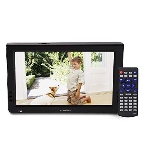 TV Digital portátil de 10 Pulgadas,TV analógica con DVB-T-T2 Resolución de DVB-T 1024x600 TV portátil Recargable con Encendedor de Cigarrillos para habitación, Cocina, Caravana