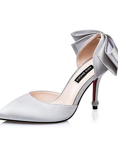 WSS 2016 Chaussures Femme-Décontracté-Noir / Rose / Violet / Gris / Fuchsia-Talon Aiguille-Talons-Talons-Soie fuchsia-us8 / eu39 / uk6 / cn39