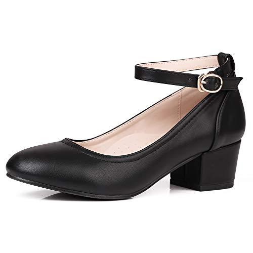 Robasiom Zapatos de tacón bajo para Mujer