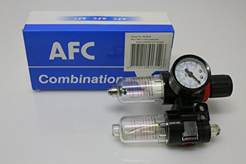 """Preisvergleich Produktbild 1/4"""" Druckluft Wasserabscheider Öler Druckminderer Wartungseinheit Kompressor Öl"""