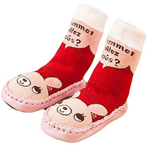 wuyan-cute bebé niños niñas niños Mocasín antideslizante interior zapatos