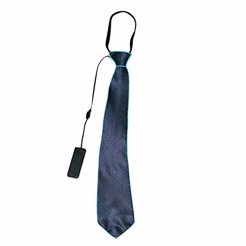 D Leuchtende Krawatte für Männer (ohne Batterie) - Blau, 45x8cm ()