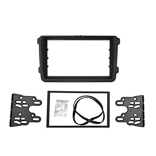 toradio Rahmen für Touran Caddy Altea Leon Alhambra Toledo Fabia Octavia Stereo DVD Dash Kit Trim Faszie Panel Adapter ()