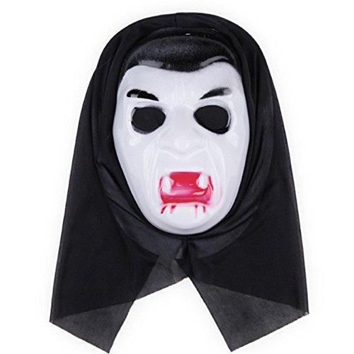 PromMask Masken Gesichtsmaske Gesichtsschutz Domino falsche Front Halloween Aprilscherz-Tagesmake-up Make-upball Maske F