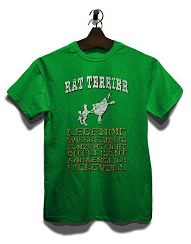Hund Rat Terrier Herren T-Shirt Grün