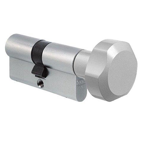 EVVA EPS Profil-Knaufzylinder 46/41K inkl. 3 Schlüssel, 3 Sicherheitsebenen, Patentschutz bis 2028 (K = Knaufseite/Innenseite)