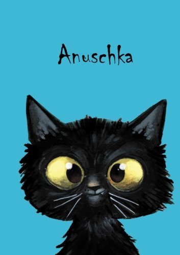 anuschka-personalisiertes-notizbuch-din-a5-80-blanko-seiten-mit-kleiner-katze-auf-jeder-rechten-unte