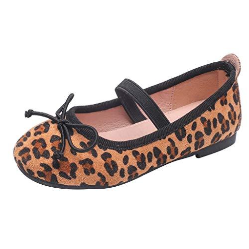 BURFLY Mode Kinder Schuhe, Mädchen Prinzessin Leopard Drucken Schuhe Casual Erbsen Gummiband Schuhe Partei Schuhe Bequem Flache Weiche Schuhe Freizeitschuhe