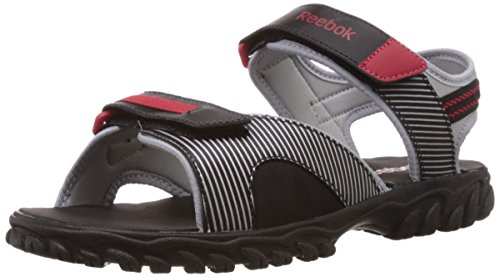 Reebok Men's Adventure Chrome Lp Black,Ex.Red and Silver Mesh Sandals - 7 Uk  available at amazon for Rs.1399