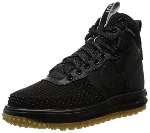 Nike Lunar Force 1 Duckboot, Chaussures de Sport-Basketball Homme Noir - Negro (Black / Black-Mtllc Slvr-Anthrct)