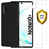 ANEWSIR Protector de Pantalla + Funda Samsung Galaxy Note 10 Plus/Note 10+ / Note 10+ 5G Negro, TPU Silicona Ultra Fino Protector de Pantalla y Caso Samsung Note 10 Plus/Note 10+ / Note 10+ 5G