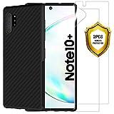 ANEWSIR Pellicola per Samsung Galaxy Note 10 Plus/Note 10+ 5G [2 Pezzi] con Samsung Note 10+/ Note 10 Plus Cover Custodia Nero, Ultra Sottile Custodia Morbida e Protettiva. Protezione Totale.