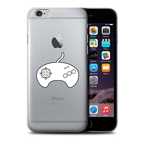 Stuff4 Hülle / Case für Apple iPhone 6 / Schwarz SNES Muster / Spielsteuerung Kollektion Weiß Mega Drive