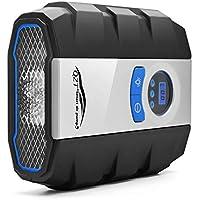 TDW Compressore d' Aria Portatile, 150Psi Gonfiatore Pneumatico Digital, con Luce LED per Gonfiare Le Gomme delle Moto e delle Auto, Palloni
