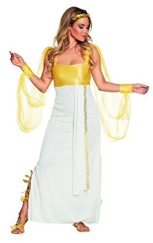 hsenenkostüm Aphrodite, weiß (Liebe Göttin Halloween-kostüm)
