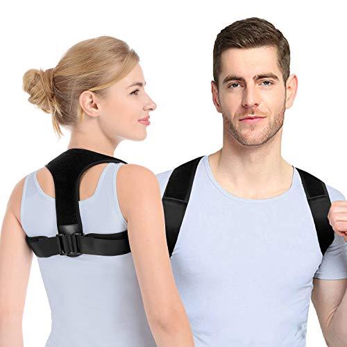 Anoopsyche Haltungskorrektur Rücken Herren Damen Entworfen von Deutschen Designer, Geradehalter zur Haltungskorrektur mit 2 Schulterpolster, für haltungsbedingte Nacken, Rücken und Schulterschmerzen