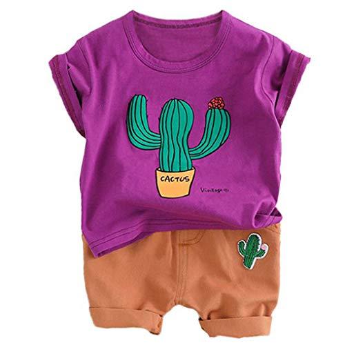 Kaktus Kostüm Kinder - Uzinb Kaktus-T-Shirt Shorts Kinder-Kind-Kostüm Sommer Kleinkind-Säuglingskleidung