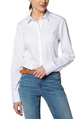 Eterna Chemisier à Manches Longues Modern Classic Stretch Uni Blanc